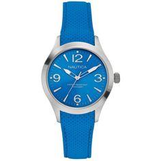 Nautica Watch, Women's Blue Silicone Strap 38mm N11100M $110