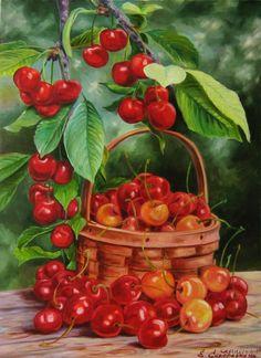 "Photo from album ""НАТЮРМОРТЫ (еда)"" on Yandex. Diy Canvas, Canvas Wall Art, Strawberry Art, Vegetable Painting, Chicken Ham, Fresh Guacamole, Fruits Photos, Fruit Illustration, Fruit Art"