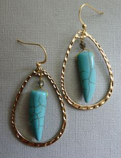 """Bianca Iris Designs dagger hoop earrings. Check """"Bianca Iris Designs"""" on FB for availability and pricing."""