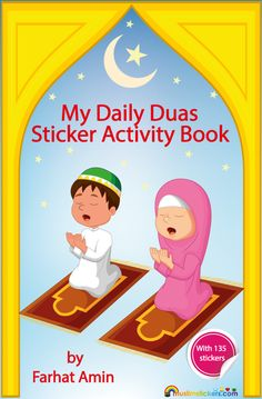 Inshallah our sticker activity book will help your child learn their daily duas.The book is full of fun and interactive pages,with lots of scenes that kids can relate to.We have used images that represent all ethnicities and cultural backgrounds. The pages are blank on one side so they can be cut out and stuck around…