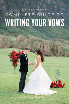 Expert Advice on How To Write Your Elopement Vows — Modern Elopement Elope Wedding, Hawaii Wedding, Wedding Couples, Elopement Wedding, Wedding Ideas, Wedding Rustic, Wedding Pictures, Wedding Details, Wedding Photography Packages