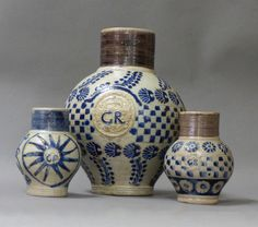 German pottery for England and the colonies, Urn Vase, Vases, Earthenware, Stoneware, Dinghy, American Revolution, Mocha, Crock, Glaze