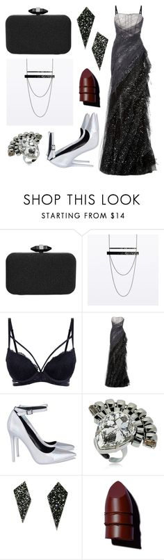 """Ball gown"" by spinbotgothic ❤ liked on Polyvore featuring INC International Concepts, Pamella Roland, Halo & Co., Wolf & Moon, Anastasia Beverly Hills and allblackoutfit"