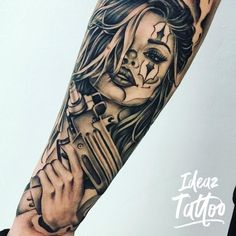 Tattoo Girl Skull Artists 65 new ideas – Tattoos Tattoo Life, Chicanas Tattoo, Skull Girl Tattoo, Girl Face Tattoo, Clown Tattoo, Chicano Art Tattoos, Gangsta Tattoos, Dope Tattoos, Badass Tattoos