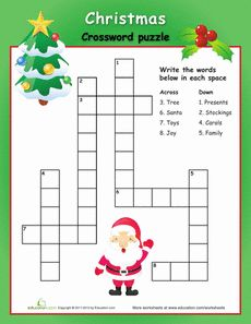 Worksheets: Easy Christmas Crossword Puzzle done Christmas Crossword Puzzles, Christmas Puzzle, Christmas Worksheets, Christmas Words, Noel Christmas, Christmas Printables, Simple Christmas, All Things Christmas, Christmas Riddles