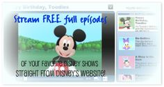 Did you know you anyone can stream FREE full episodes of Disney TV shows? Will definitely use this on a rainy day :)