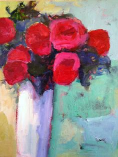 "Daily Painters of New Mexico - Contemporary Fine Art International: Contemporary Abstract Still Life Flower Art Painting ""April in Paris"" by Santa Fe Artist Annie O'Brien Gonzales Art Floral, Still Life Artists, Paintings I Love, Floral Paintings, Acrylic Paintings, Art Paintings, Flower Art, Life Flower, Abstract Flowers"