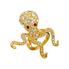 Kenneth Jay Lane Octopus Ring ($165) ❤ liked on Polyvore