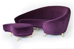 Purple Velvet Mid Century Modern...yes please!!!