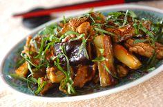 豚肉とナスのオイスター炒めのレシピ・作り方 - 簡単プロの料理レシピ | E・レシピ