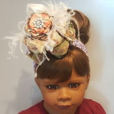 Gorgeous Couture Fall 🍁 Headband. Visit my Etsy store today. Store name  .. Rhapsody In Bows 🍁