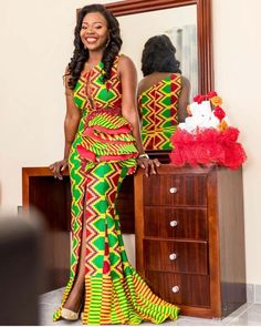 Kente Wedding Dress Styles of 2019 - cakerecipespins.club Kente Wedding Dress Styles of 2019 : Kente Wedding Dress African Inspired Fashion, Latest African Fashion Dresses, African Print Fashion, African Prints, African Wedding Attire, African Attire, African Dress, Kente Dress, Kente Styles