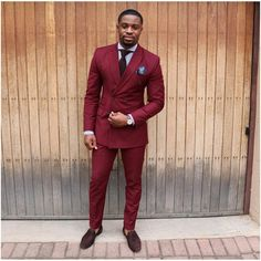 Latest Coat Pant Designs Burgundy Double Breasted Casual Custom Wedding Suits For Men Groom Beach Slim Fit 2 Pieces Masculino Maroon Suit, Burgundy Suit, 2 Piece Prom Suit, Skinny Suits, Skinny Men, Double Breasted Tuxedo, Marca Personal, Fitted Suit, Suit And Tie