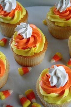 Halloween Cupcakes - Candy Corn