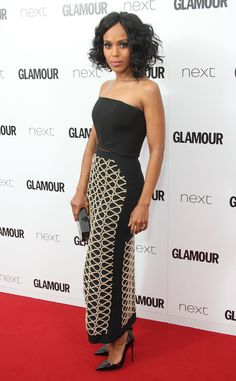 Kerry Washington looks fierce on the red carpet at the 2015 Glamour UK Women of the Year Awards