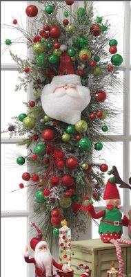 "Image Gallery > RAZ 14"" Santa Face Ornament - Trendy Tree"