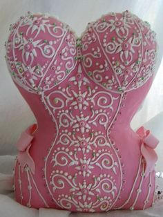 Pink With Detail Corset Cake