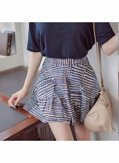 Elastic Waist Band A-line Skirt  ★ Free Worldwide Shipping ★ - S$66.00