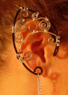 Elvish ears Aged Copper elf earcuffs Fantasy elf ear cuffs Non-pierce earring,Forest elf ear cuffs elf ears Elven  earrings sylvan elf