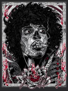 Jimi Hendrix - Rhys Cooper - ''Bad 2the Bonez Series - Voodoo Child'' ----