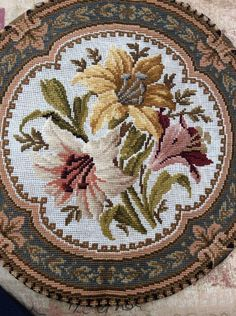 Antique Cushion Panel Canvas Work Embroidery Tapestry, 19th Century | Antiques, Fabric/Textiles, Embroidery | eBay!