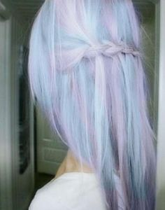 lilac and blue hair with small braid