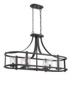 Designers Fountain 87538 Palencia 6 Light 1 Tier Linear Chandelier Artisan Pardo Wash Indoor Lighting Chandeliers