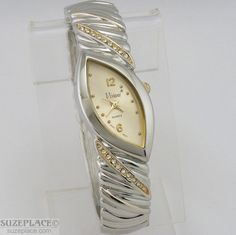 New Vivani Ladies Watch Rhinestone Gold Silver Bangle Bracelet Style Band SuzePlace.com