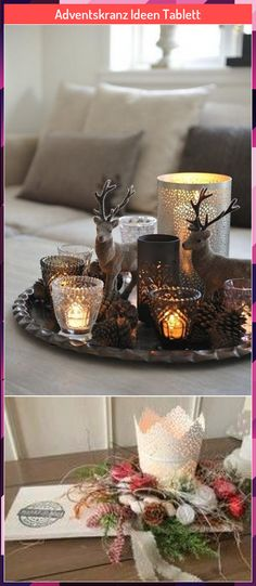 Tray Decor, Candle Holders, Candles, Table Decorations, Home Decor, Decoration Home, Room Decor, Serving Tray Decor, Porta Velas