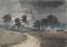 winslow homer / Storm, Bahamas (1885)