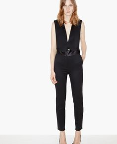 Jumpsuit with satin details - The Kooples