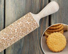 Caleidoscopio modello Laser Cut goffratura mattarello di legno, rullo di decorazione di biscotti