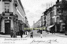 ancienne carte postale de BruxellesLa rue de Brabant