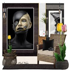 """""""Decorate with graphic art"""" by lamipaz ❤ liked on Polyvore featuring interior, interiors, interior design, home, home decor, interior decorating, Pappelina, Couristan, Buster + Punch and Pier 1 Imports"""