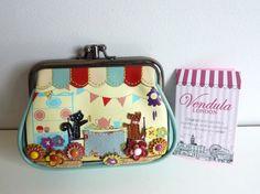 VENDULA LONDON PRETTY CAT/DOG/FLOWER CLIP TWIST GRANNY CLASP COIN PURSE BNWT in Clothes, Shoes & Accessories, Women's Handbags | eBay
