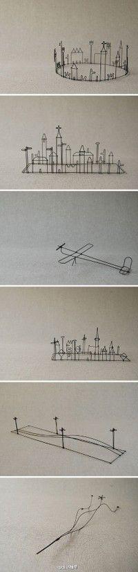 Wire art : landscape