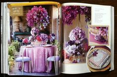Lovely purples for your outdoor garden party.....