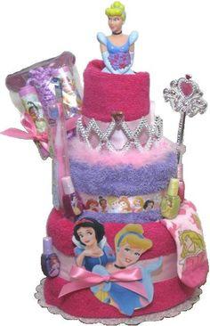 Disney Princess Gift Set, Princess Birthday Present, Disney Princess Towel Gift Set, Girls Gift, Pink Girl Gift, Princess Towel Cake,