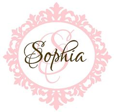 for Sophia's nursery..ordered and shipped!!  Going up on the wall behind her crib =)