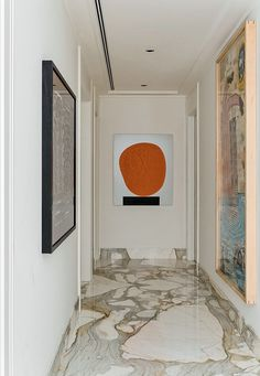 floors created with Clacata Marble slabs : Bennett Apartments