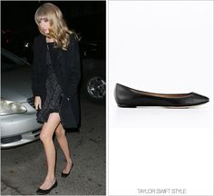 Leaving One Direction's after party | New York City, NY | December 4, 2012 Ann Taylor 'Perfect Patent Leather Flats' - $89.99 Enjoy an online exclusive for all Ann Taylor shoes - including these sweet...