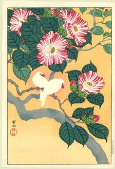 Camellia and Rice Birds - Ohara Koson