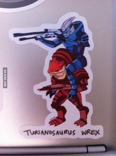 What do you get when you put Garrus on the back of a Krogan?