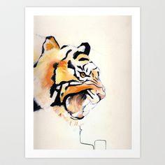 Eye of the Tiger Art Print by Melanie Hopper - $14.56