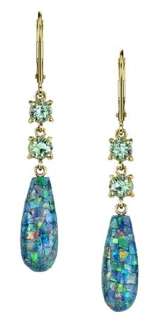 Suzanne Felsen Opal earrings great looking bobs for the summer and the colors are fantastic they memoic the ocean, sunset and the night sky.