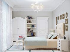 Bedroom, Luxury White Teen Bedroom Furniture With Lighting In The Roof And Cozy Area Rugs: Room Decorating Ideas for Teens