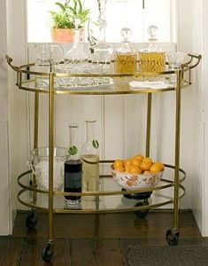 Stock the Bar - Charleston Home Dining Room - Southern Living Decor, House Design, Bars For Home, Bar Furniture, Bar, Contemporary House Design, Vintage Bar Carts, Bar Stools, Small Bars For Home