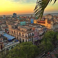 Sunset View - Historic Architecture - Havana Cuba - Bold Color - Travel Destination