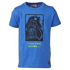 LEGO wear LEGO STAR WARS TIMMY 750-Camiseta Niños,    azul (MEDIUM azul 554) 7 años (122 cm) #camiseta #friki #moda #regalo