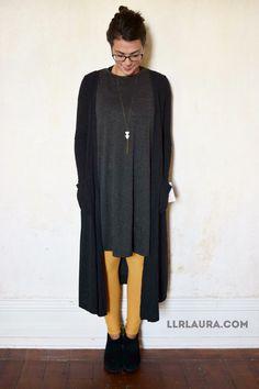 how to wear the grey half sleeve aritzia cardigan